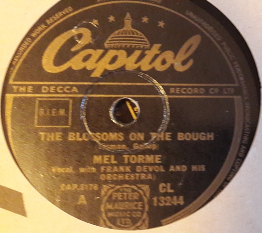 Mel Torme - The Blossoms on the Bough - Capitol CL.13244