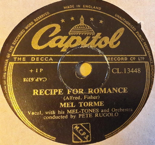 Mel Torme - Recipe for Romance - Capitol CL.13448