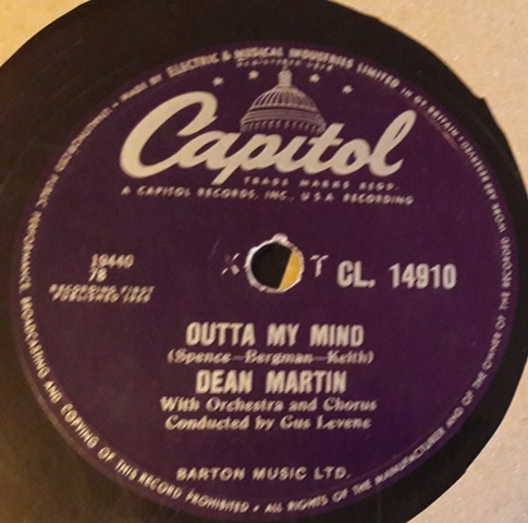 Dean Martin - Outta My Mind - Capitol CL.14910 UK