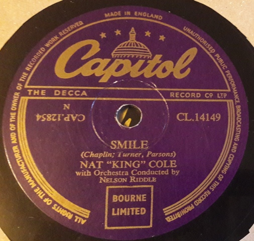 Nat King Cole - Make her mine / Smile - Capitol CL.14149