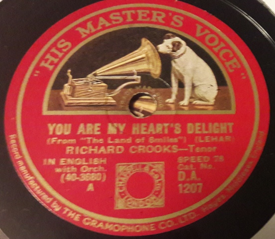 Richard Crooks - You are my hearts delight - HMV DA.1207