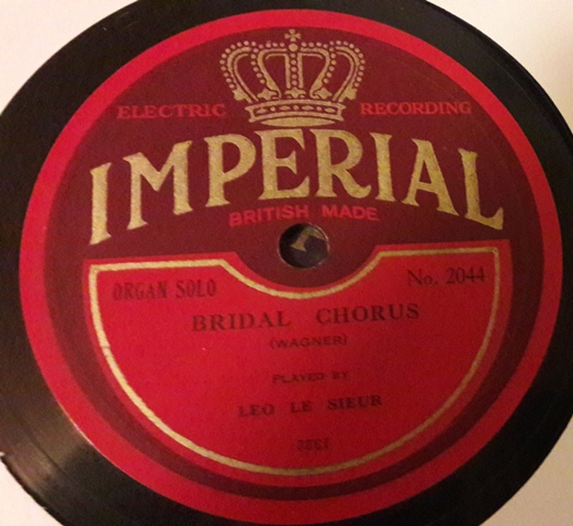 Leo le Sieur Organ - Bridal Chorus Wedding March - Imperial 2044