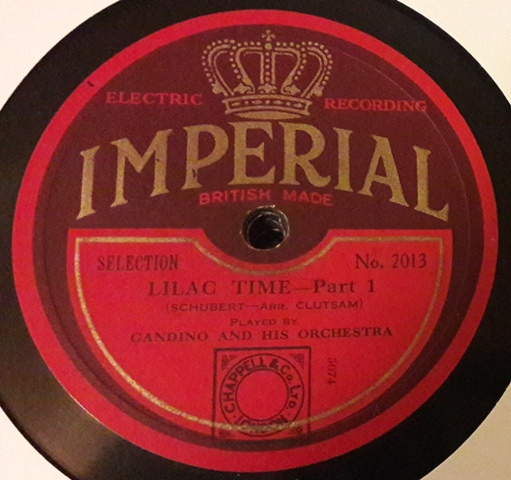 Grandino & Orchestra - Lilac Time - Imperial 2013