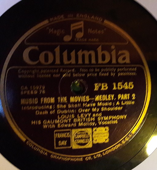 Louis Levy - Music from the Movies - Columbia FB.1545 E+