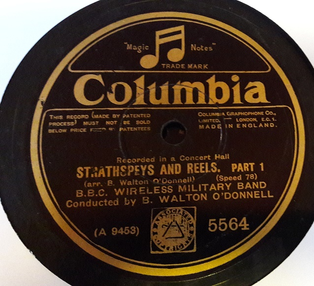 B.B.C. Wireless Military Band - Strathspeys & Reels - Columbia