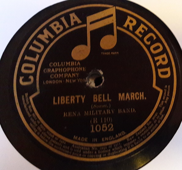 Rena Military Band - Liberty Bell March - Columbia 1052