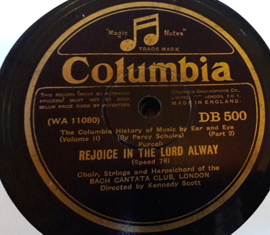 Doris Owens - Rejoice in the Lord alway - Columbia DB.500