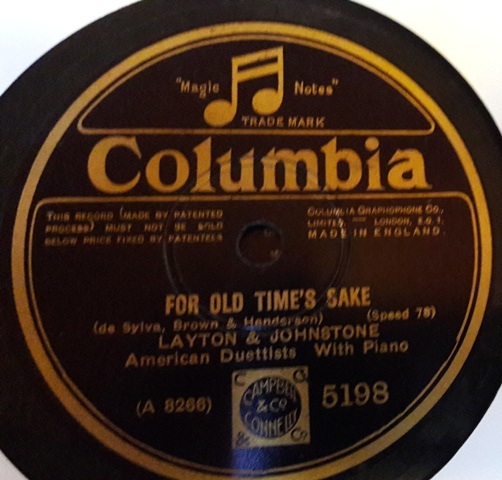 Layton & Johnstone - Sonny Boy - Columbia 5198