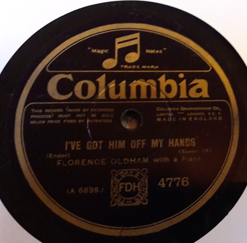 Florence Oldham - I've got him off my hands - Columbia 4776