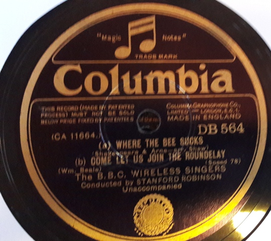 B.B.C. Wireless Singers - Lover & His Lass - Columbia DB.564