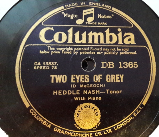 Heddle Nash - Two eyes of Grey - Columbia DB.1365