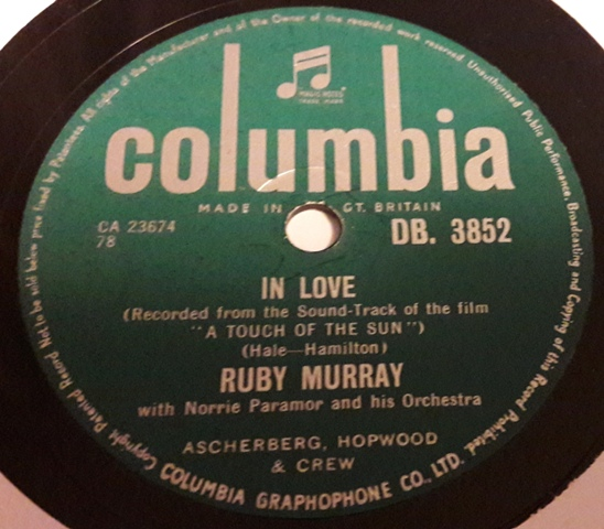 Ruby Murray - O'Malleys Tango - Columbia DB.3852 Stunning