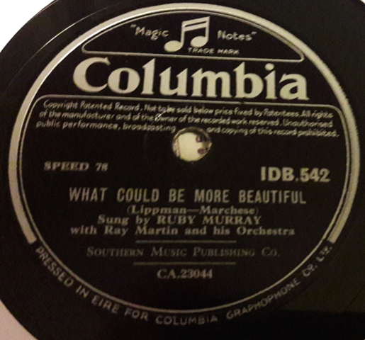 Ruby Murray - Softly Softly - Columbia IDB.542 Irish Stunning