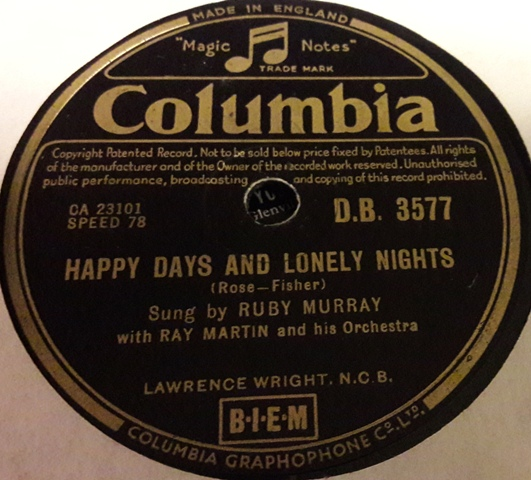 Ruby Murray - Let me go Lover - Columbia DB.3577 VG+