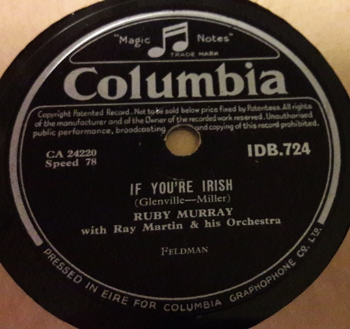 Ruby Murray - Mountains of Mourne - Columbia IDB.724 Irish