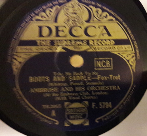Ambrose & Orchestra - Boots and Saddle - Decca F.5794
