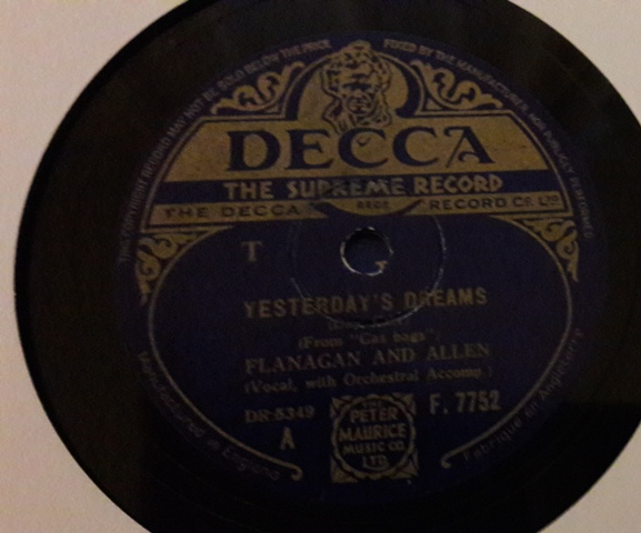 Flanagan & Allen - Yesterday's Dreams - Decca F.7752