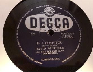 David Whitfield - If I lost you - Decca F.10833