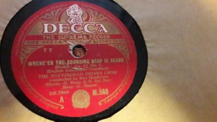 Nottingham Oriana Choir - Whene're sounding heard - Decca M560