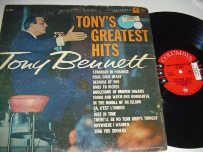TONY BENNETT - TONY'S GREATEST HITS 1958 - COLUMBIA