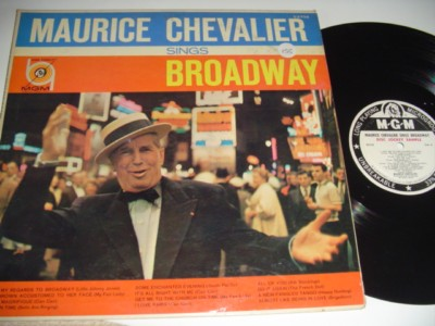 MAURICE CHEVALIER - SINGS BROADWAY - MGM PROMO { 155