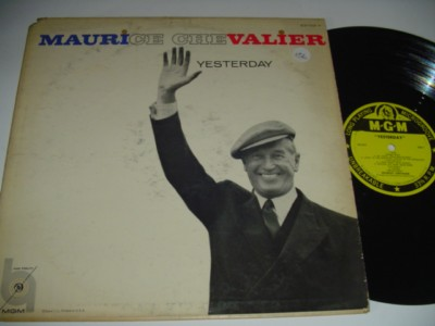 MAURICE CHEVALIER - YESTERDAY - MGM { M 156