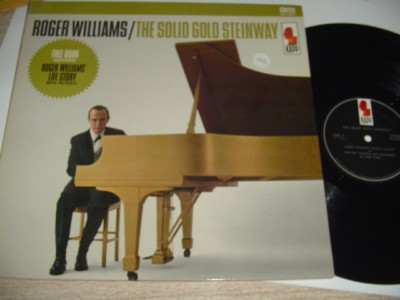 ROGER WILLIAMS - SOLID GOLD STEINWAY signed - KAPP { 166