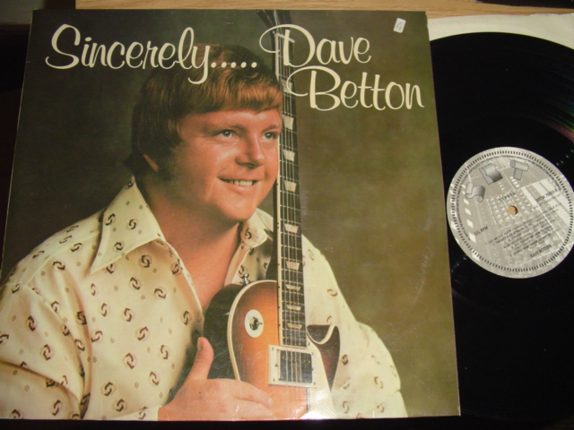 DAVE BETTON - SINCERELY - SRT RECORDS