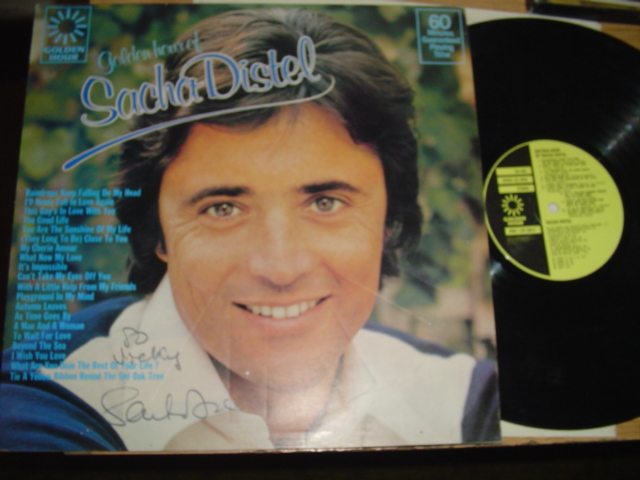 SACHA DISTEL - GOLDEN HOUR - SIGNED COVER