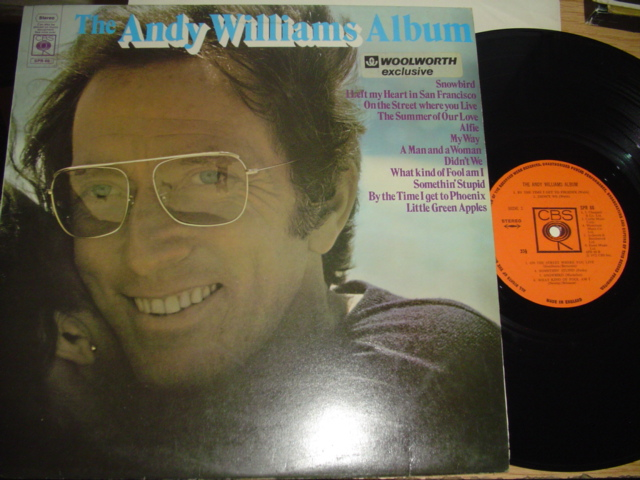 ANDY WILLIAMS - THE ANDY WILLIAMS ALBUM - CBS