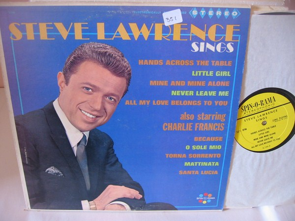 STEVE LAWRENCE - SINGS - SPINORAMA { MV 351