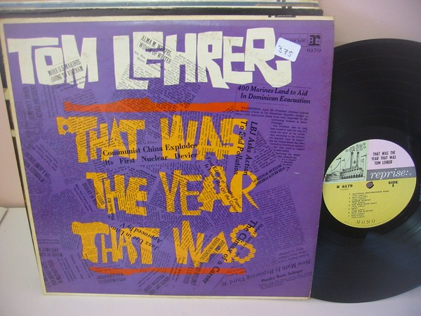 TOM LEHRER - THAT WAS THE YEAR - REPRISE { MV 375