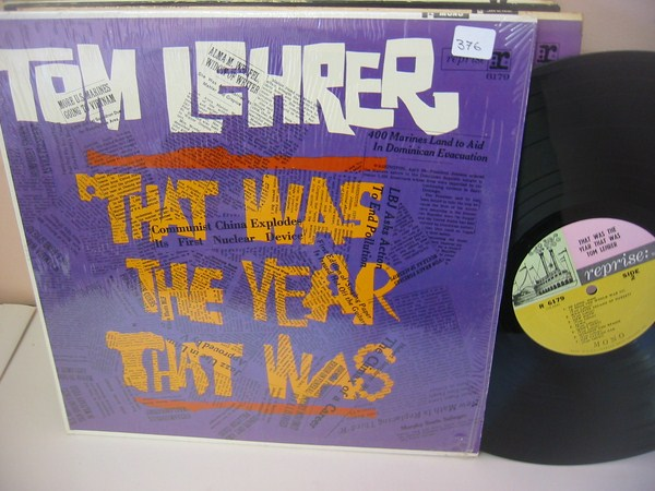 TOM LEHRER - THAT WAS THE YEAR - REPRISE { MV 376