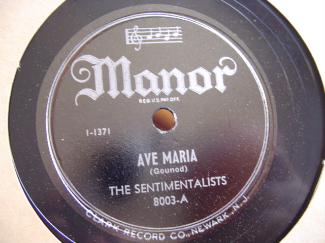 THE SENTIMENTALISTS - SILENT NIGHT - MANOR 8002
