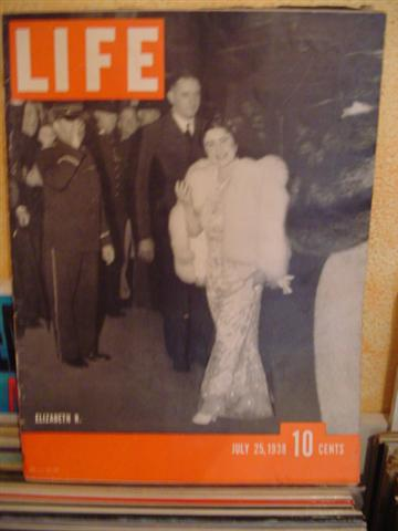LIFE MAGAZINE - JULY 25 1938 QUEEN ELISABETH