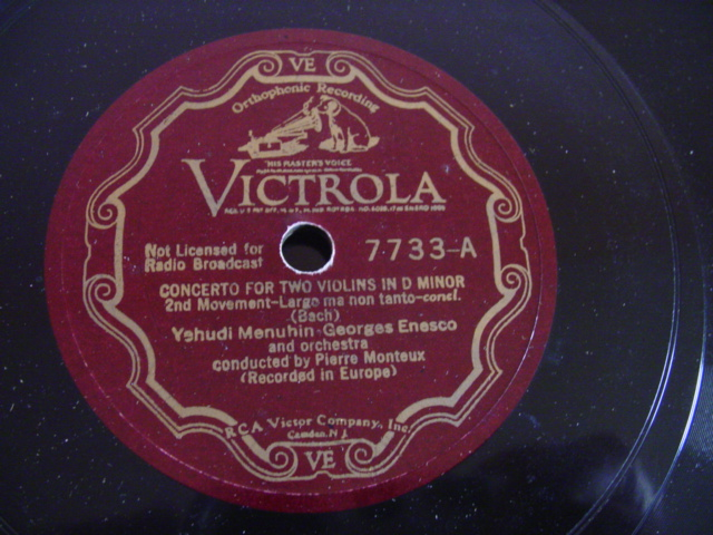 MENUHIN & ENESCO - BACH TWO VIOLIN - VICTROLA