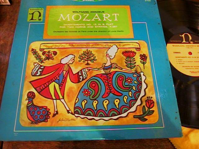 MOZART - DIVERTIMENTO 15 STRINGS HORN NONESUCH R 1724