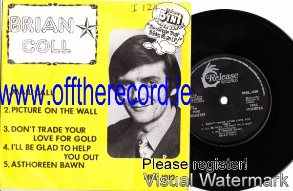 MRL 1010 - Brian Coll - 1975 EP Picture Sleeve