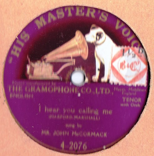 John McCormack - I hear you calling me - HMV 4-2076 Onesided
