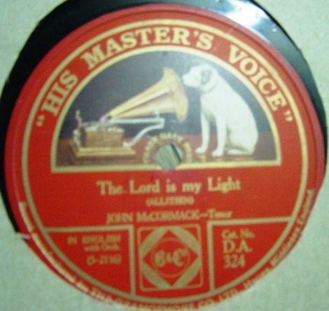 John McCormack - The Lord is my light - HMV D.A. .324