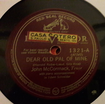 John McCormack - Dear old Pal of Mine - RCA Victor 1321 USA