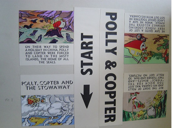 Original MiniCine Artwork - Walt Disney - Polly Copter 2 - Marti