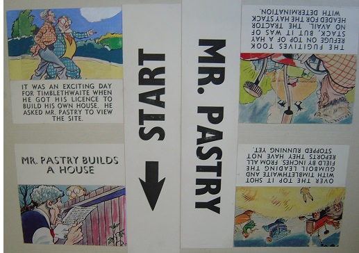 Original MiniCine Artwork - Walt Disney Mr. Pastry Builds House