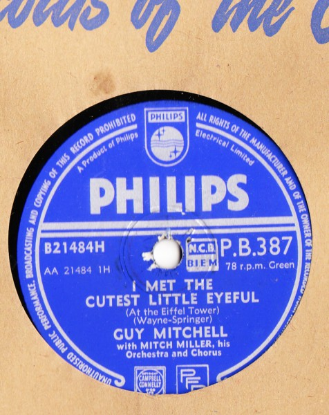 Guy Mitchell - Gee but you gotta come home - Philips UK