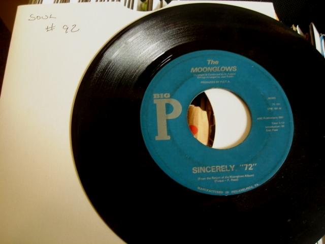 THE MOONGLOWS - BIG P RECORDS - 92