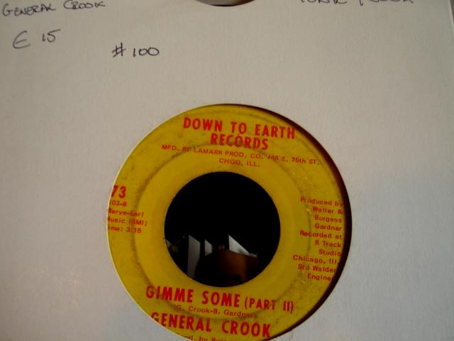 GENERAL COOK - DOWN TO EARTH RECORDS - 100