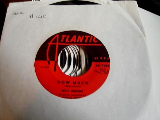 BETTY JOHNSON - HOW MUCH - ATLANTIC - 140