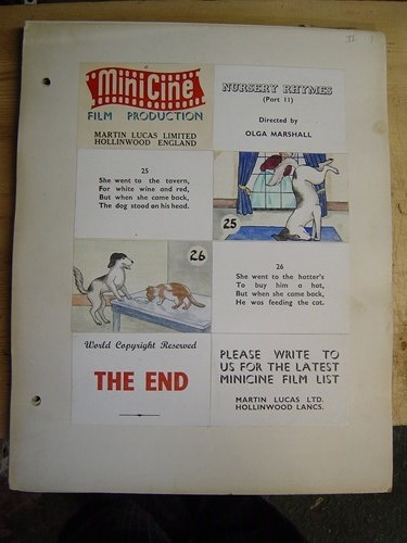 Original MiniCine Artwork - Walt Disney - Nursery Rhymes Pt 1&2