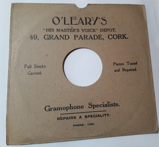 O'Leary - Gramophone Store 49 Grand Parade Cork 8