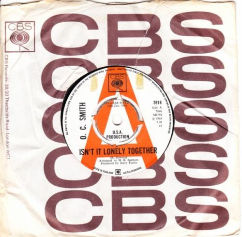 O.C. Smith - Isnt it lonely Together - 1968 CBS Demo 3778